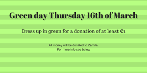 Green day Thursday 16th of March